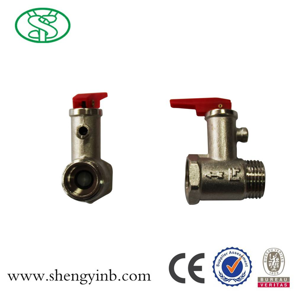 Safety Valve for Water Heater