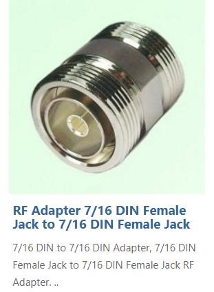 Adaptor, 7-16 Din Male To 7-16 Din Male