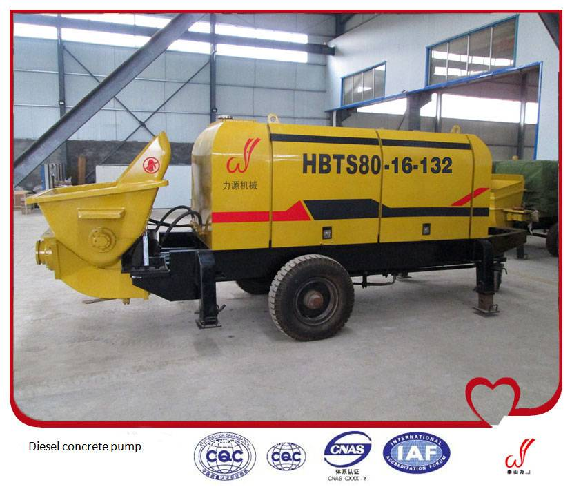 Hot sale HBT series diesel concrete pump