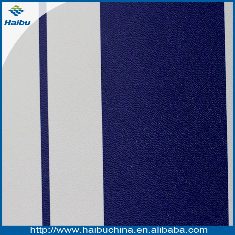 Wholesale Stripe Pattern PVC Leather for Bag