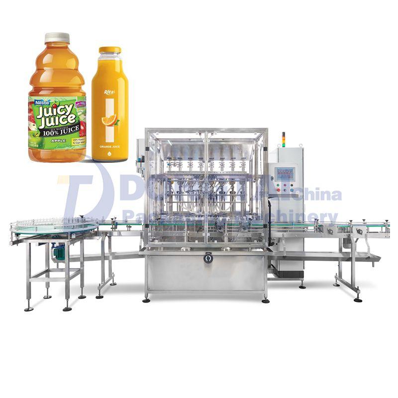 Automatic glass bottle liquid filling machine