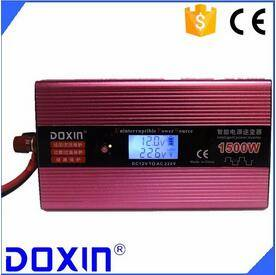 DC/AC Single output type 1000w 12v 220v solar power inverter with UPS charger and LCD Display for ho
