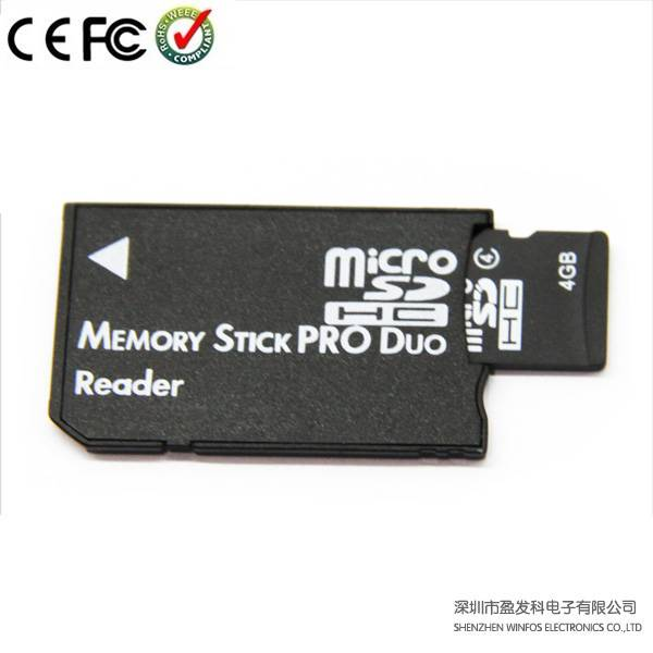 Winfos, Single Slot Card Reader Transforms TF/ Micro SD Card to Ms Pro duo