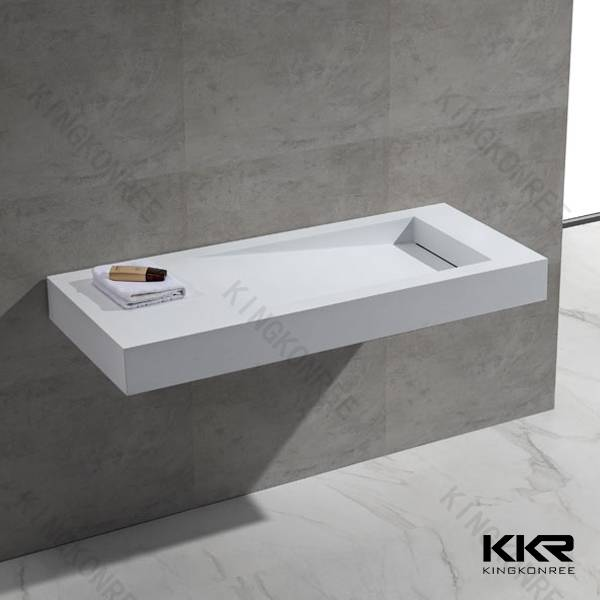 OEM ODM toilet rectangle small wall hung wash basin