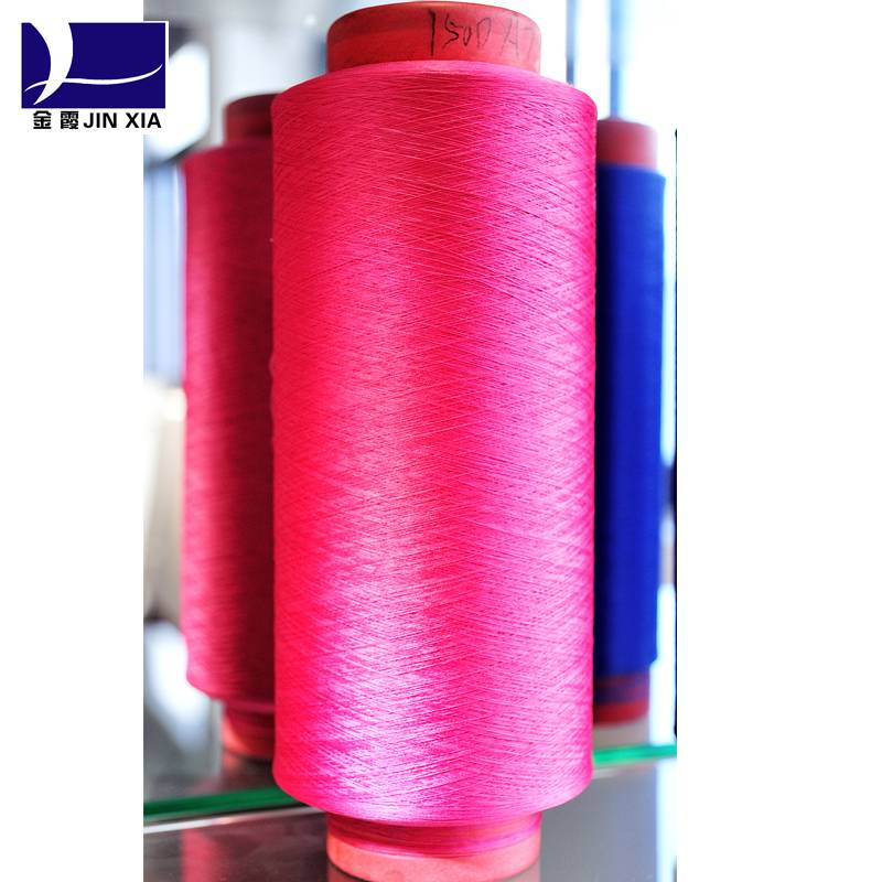 color dty polyester yarn 75d/24f,dope dyed dty polyester yarn 75d/24f