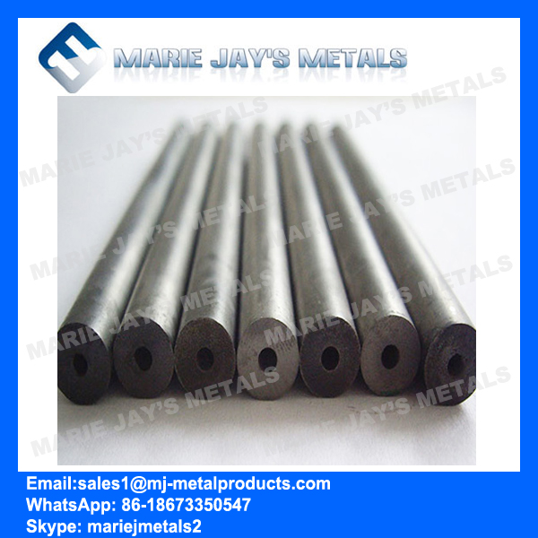 Tungsten carbide rod with one straighe hole