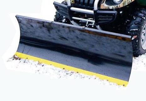 Heated blade snow plow blade