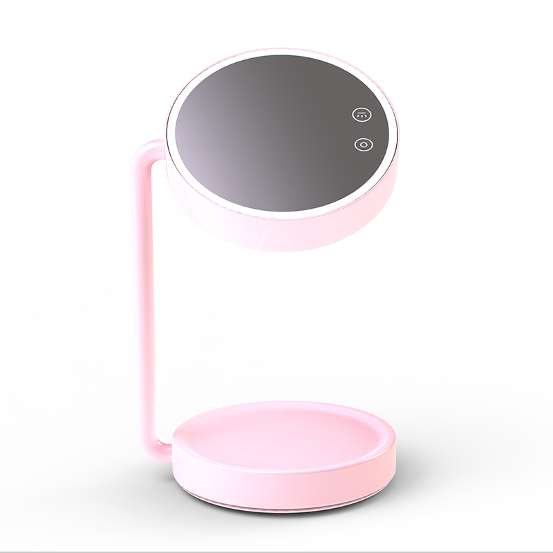 Foldable Table Lamp Cosmetic Mirror With Lights
