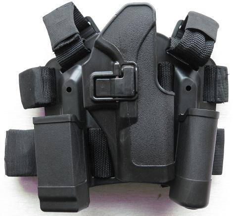 Blackhawk CQC Tactical thigh holster glock17/18-thumb break black khaki color