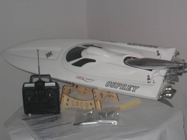"""43"""" RC Race Boat  Osprey Blade 26cc,Gas R/C Boat"""