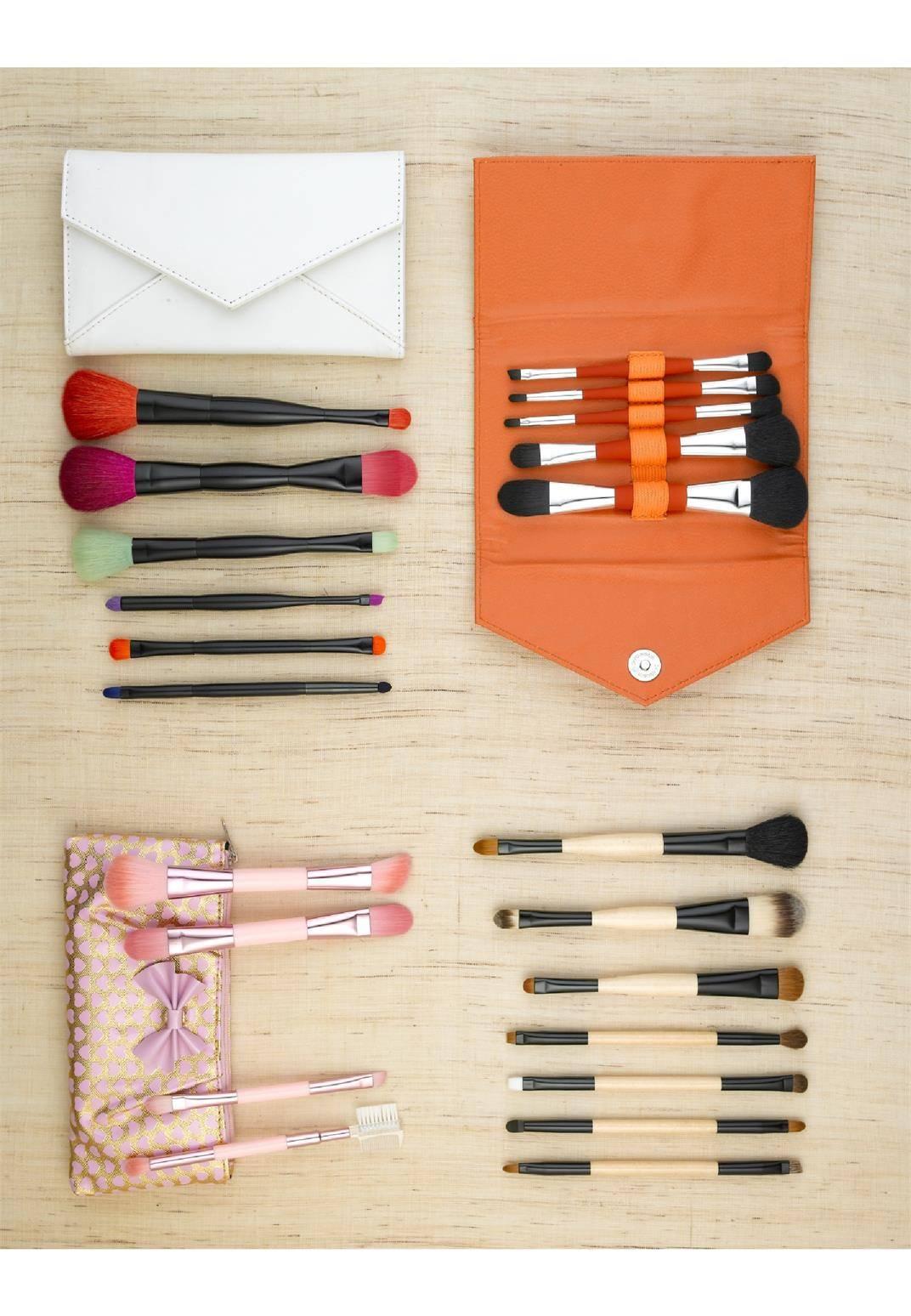 6pcs Professional Wood Makeup Brush Set Foundation Brushes Makeup Brushes Synthetic hair brush
