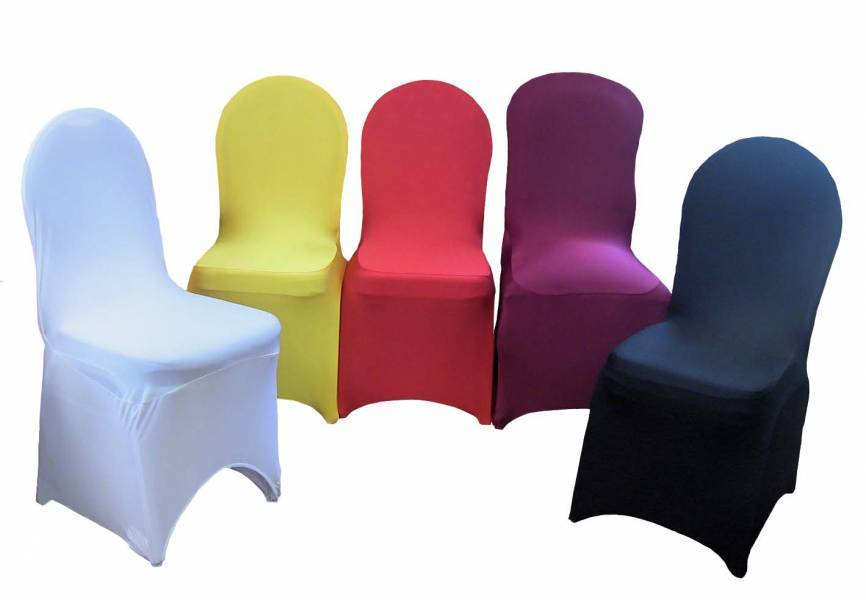 wedding banquet hotel use spandex chair cover durable and all colors are optional