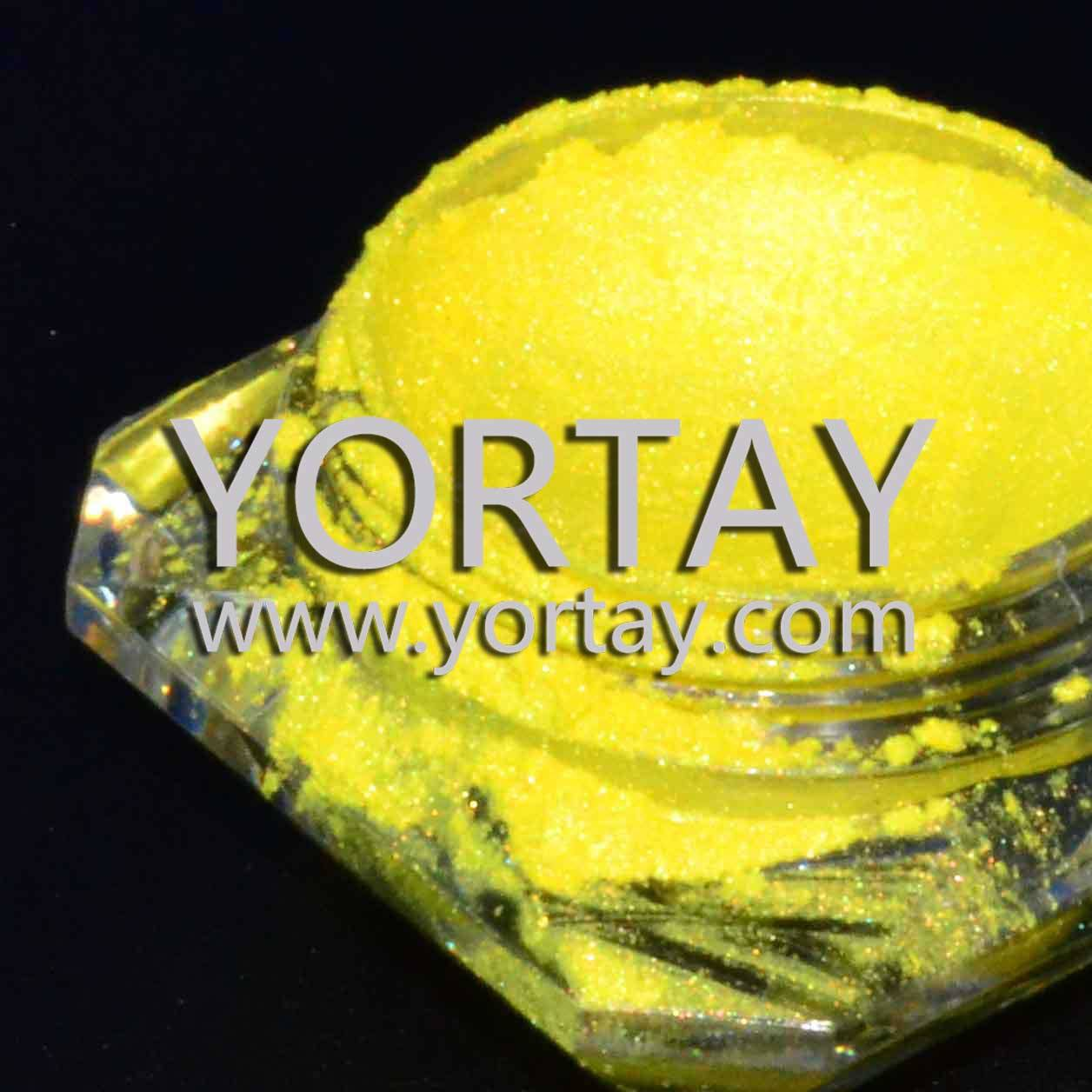 Cloth and Leather Lemon Yellow Fluorescent Pearls Dye