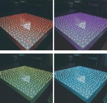 RGB 3in1 LED starlit dance floor interactive floor twinlking floor