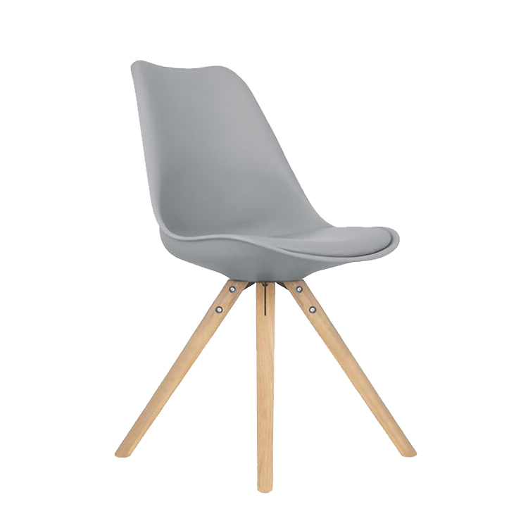 High Quality PU Upholstered Dining Plastic Chair White