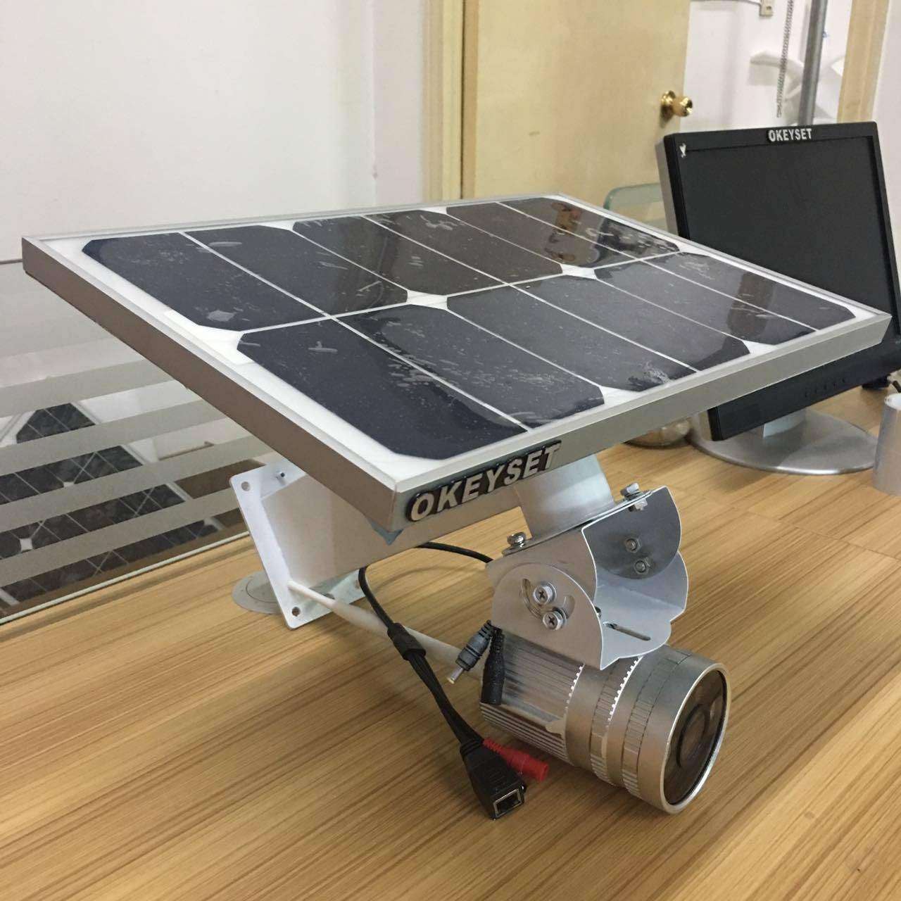 okeyset solar power wireless IP camera