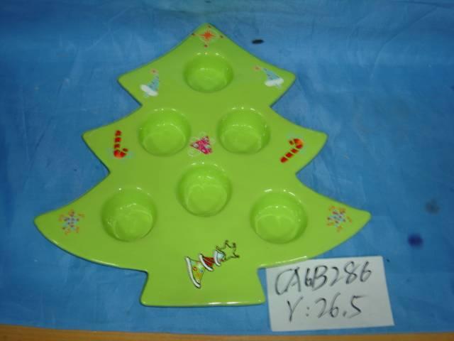 Ceramic Christmas tree candleholder