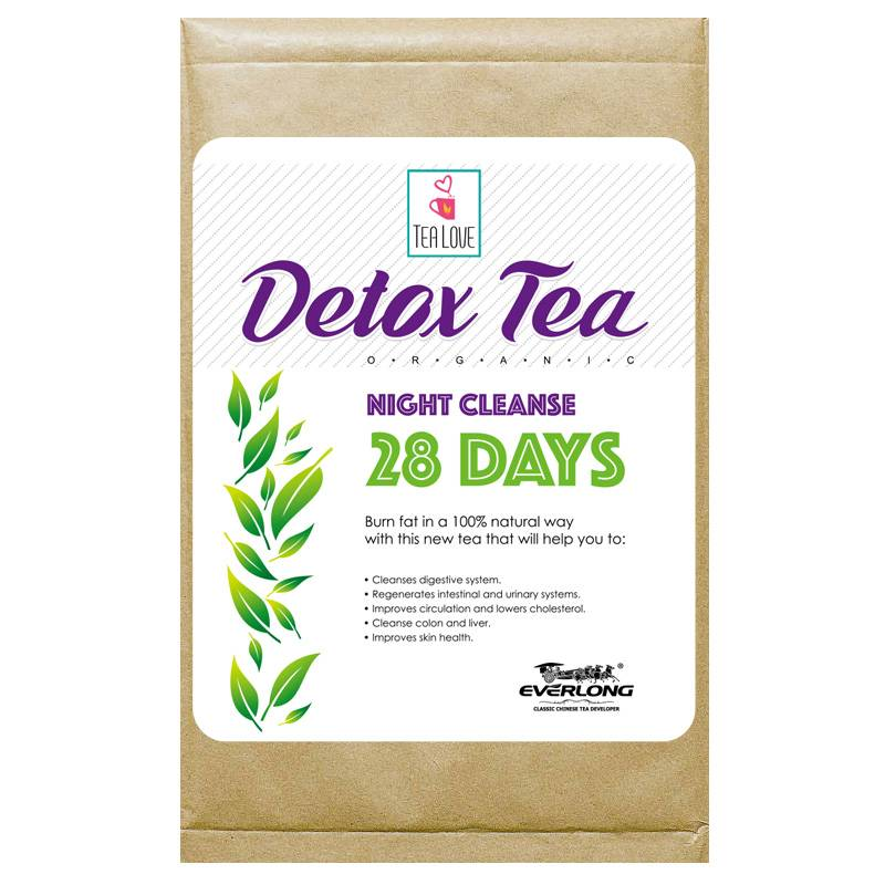 100% Organic Herbal Detox Tea Slimming Tea Weight Loss Tea (night cleanse tea 28 day)