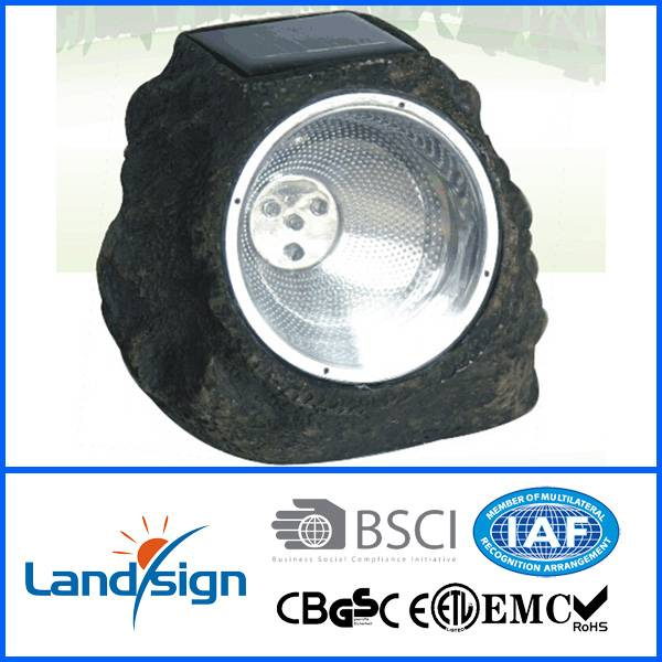 Salt stone shape solar lamp outdoor