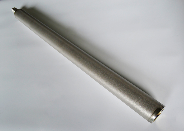 Sintered metal filter cartridge for gas diffuser/sparger, liquid filtration and purification