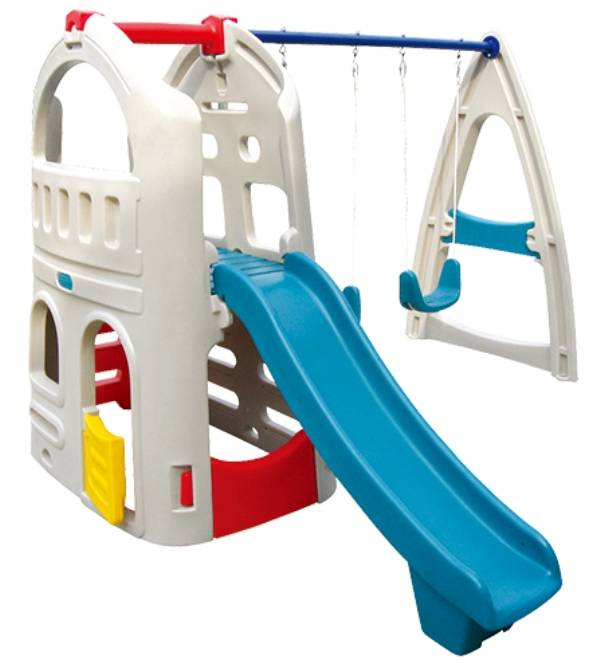 Commerical Playground Equipment Outdoor Comprehensive Toy Swing&Slide WD-W020