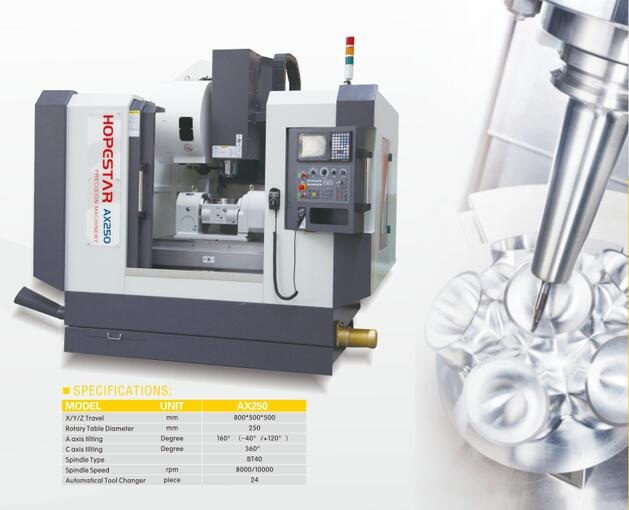 AX series 5 axis vertical lathe machine