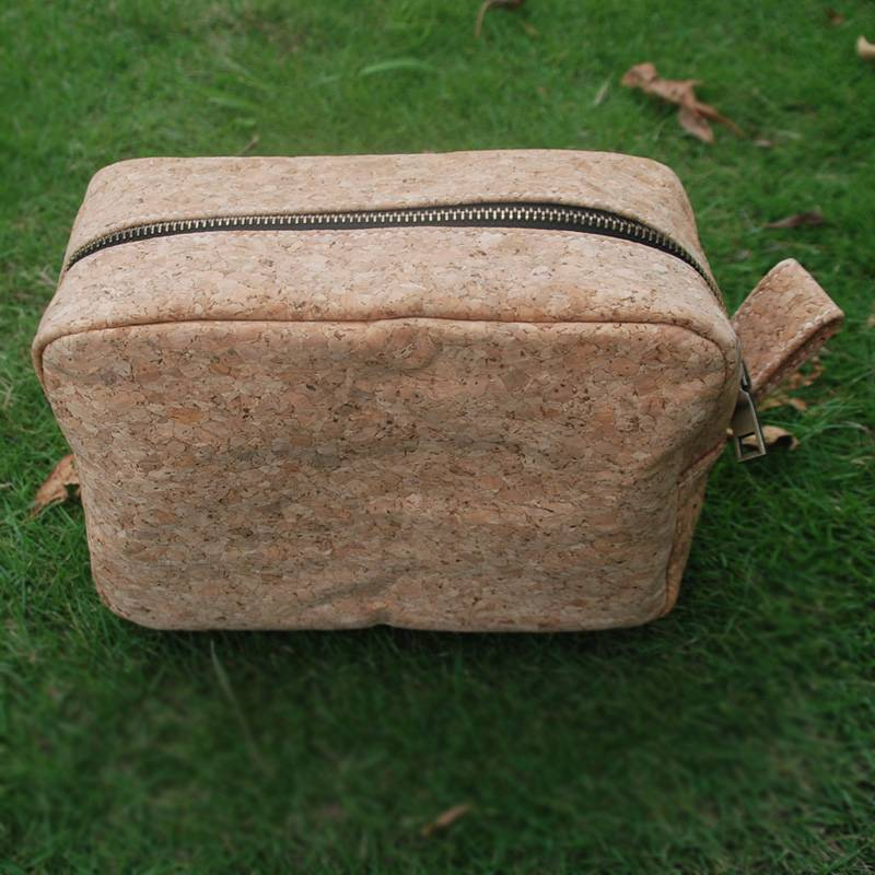 Full Cork Nature Color Men's Shaving Bag for Travel