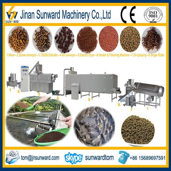 Automatic Good Quality Fish Feed Pellet Machinery