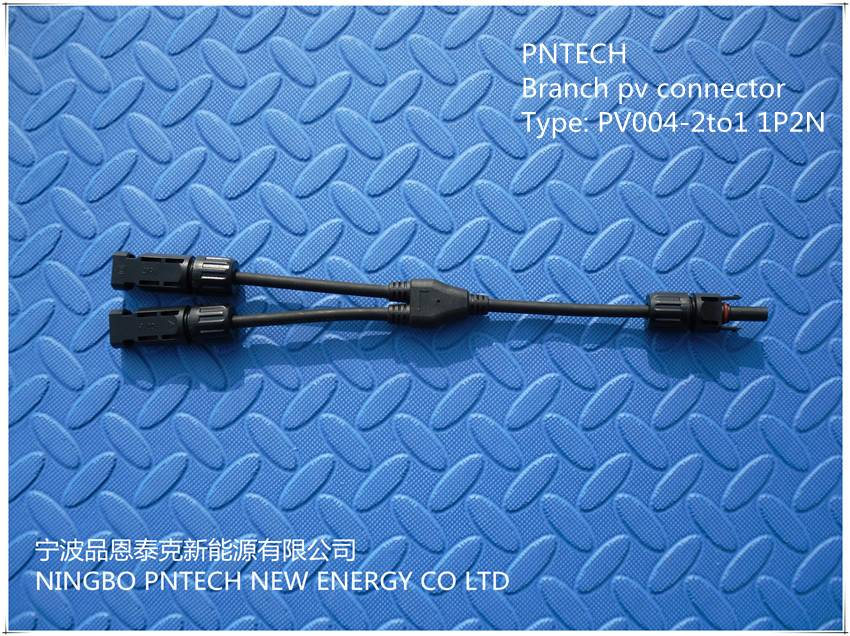 Ip67 Pv Connector 2 to 1 Branch Connector 2P1N/1P2N High Quality Solar Junction Box With Mc4 Connect