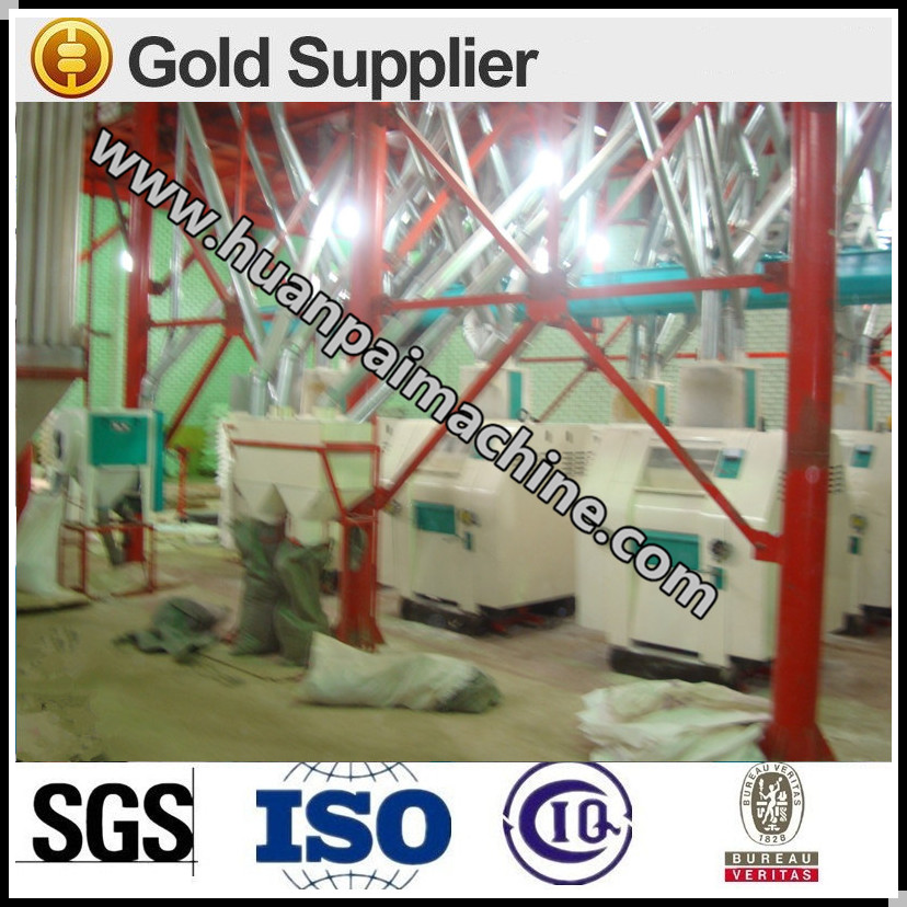 maize grits machine/corn flour processing machine/maize flour mill