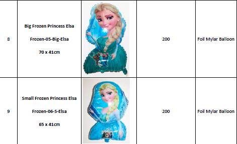 Frozen and KT Helium Foil Mylar Balloons