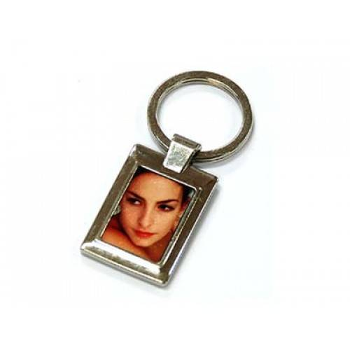 Sublimation key ring--zinc alloy