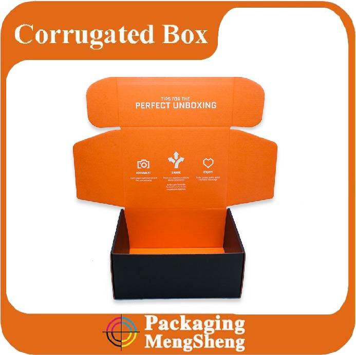 Custom printed cardboard box with logo corrugated mailing box