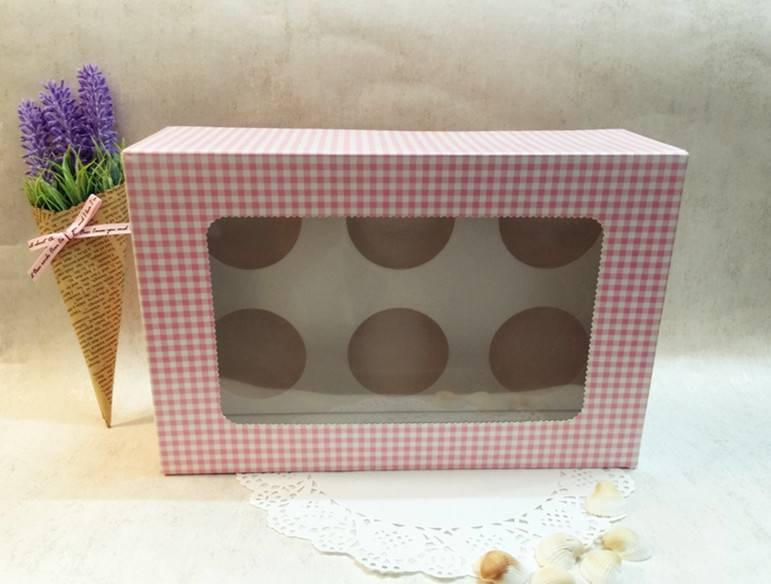 White 6 Hole Wholesale Cupcake Box for Bakery