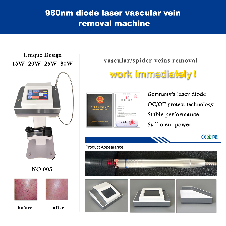 980nm vascular vein removal machine-Gray version