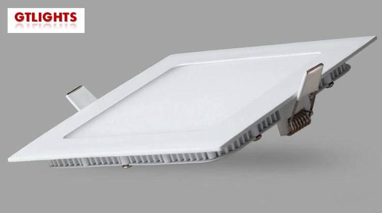 6W square recessed led panel light