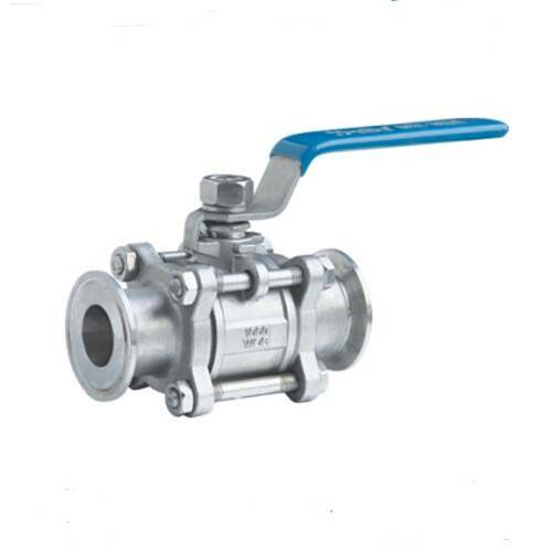 three piece ready packaged ball valve