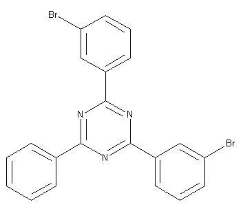 2,4-Bis-(3-bromo-phenyl)-6-phenyl-[1,3,5]triazine