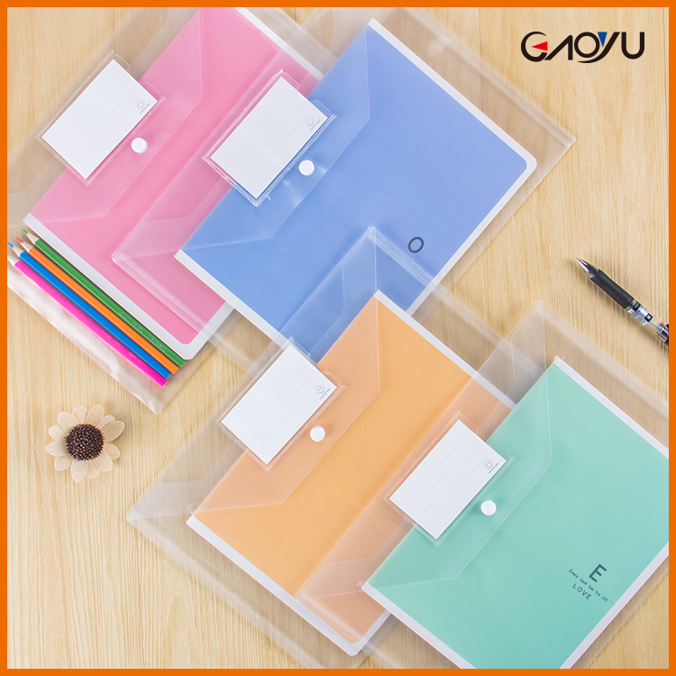 Factory supply School plastic OEM Printed Clear display book A4 A5 PP Expandable file pocket folders