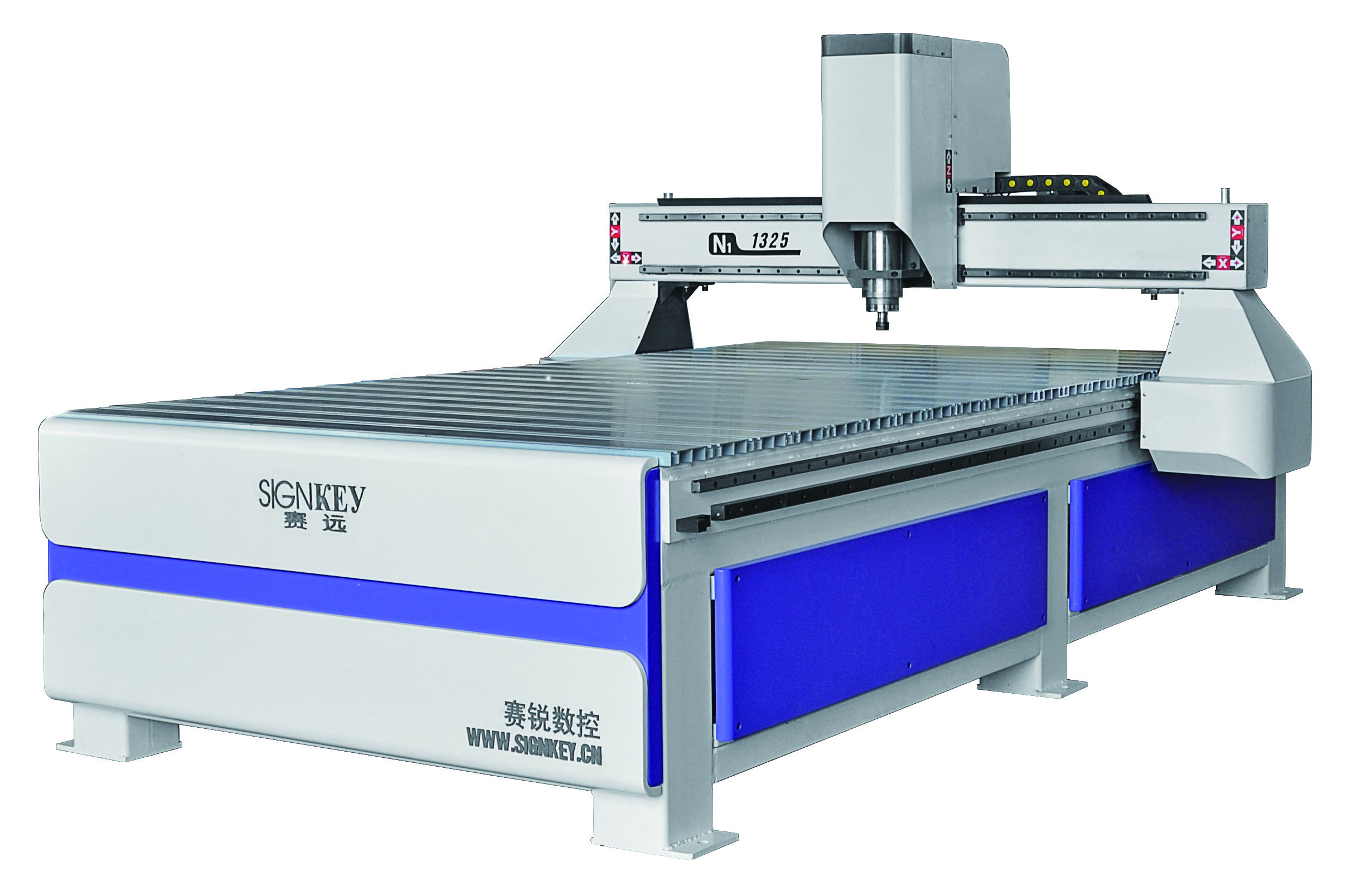 Woodworking engraving machine for nonmetallic material engraving and cutting