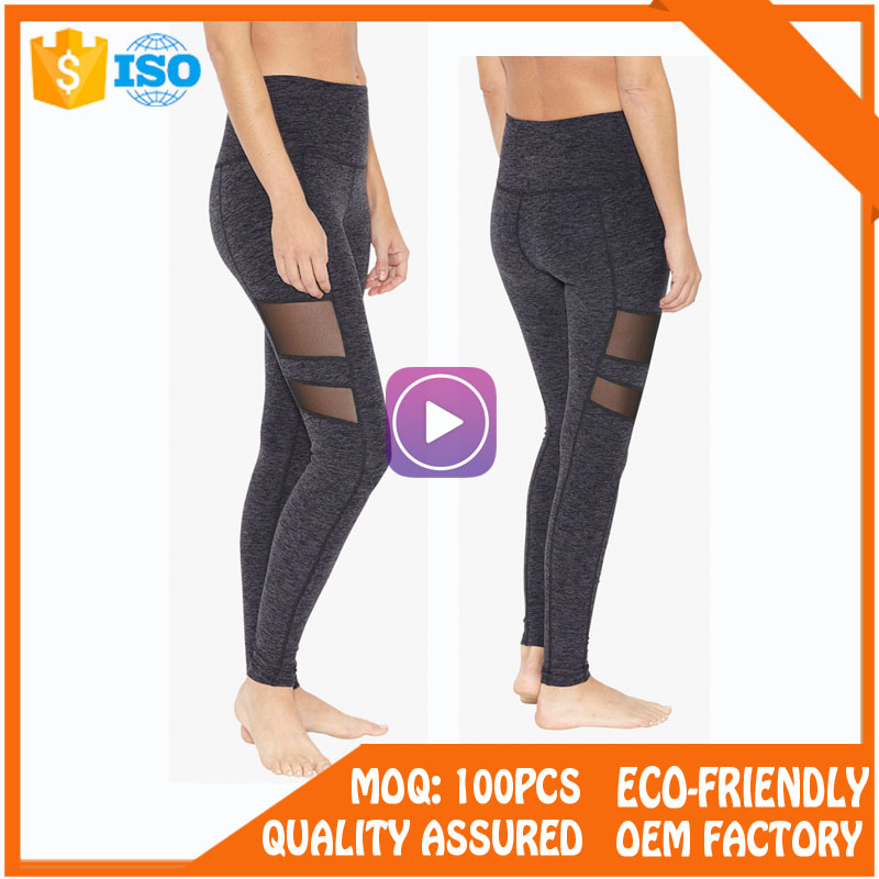 Full sublimation women running wear yoga leggings womens yoga pants