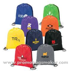 """Polyester Logo Sport Pack Tote Bag - 14""""w x 16.5""""h"""