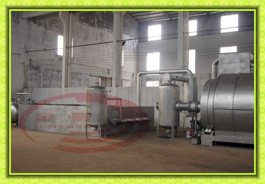 continuous waste tyre recycling machine