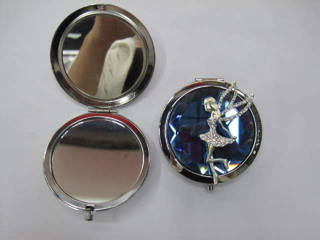 Solid Crystal Compact Mirror Angel Baby Makeup Mirror