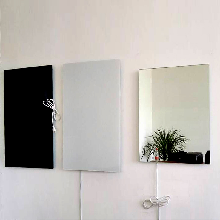 Frameless 580W power far infrared glass heating panel.