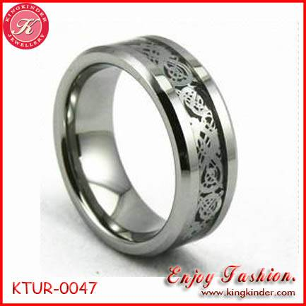 Silver Dragon Tungsten Ring, Wedding Ring, Tungsten Ring Wholesale