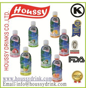Houssy hot selling 320ml nata de coco drinking water