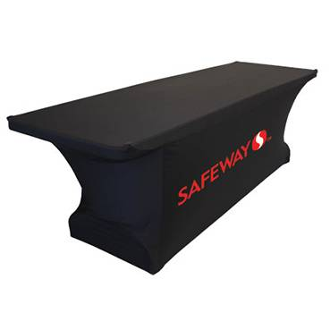custom design printed stretch table cover with spandex fabric