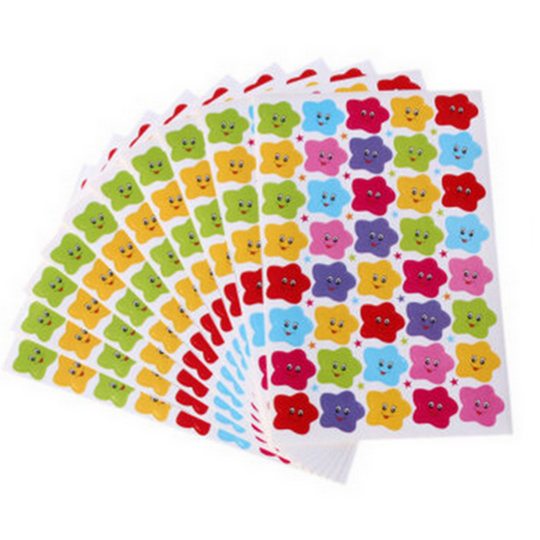 Colorful Smile Face Reward Paper Stickers