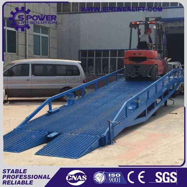12T adjustable warehouse loading dock ramp for container